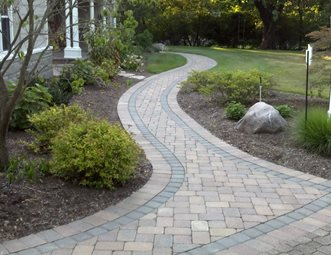 brown paver walk walkway and path outside insight cincinnati oh paver walkway design ideas - Paver Walkway Design Ideas