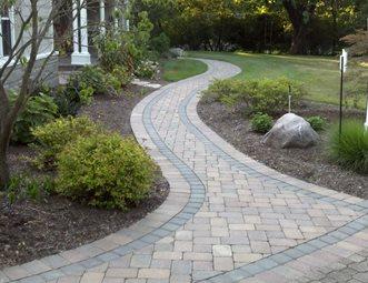 brown paver walk walkway and path outside insight cincinnati oh