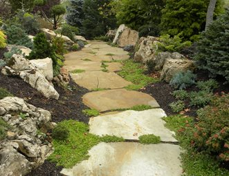Large Flagstone Slab Walkway Walkway And Path Smallu0027s Landscaping Inc  Valparaiso, ...