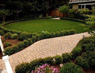 paver walkway lawn drip irrigation walkway and path aesthetic gardens mountain view ca paver walkway - Paver Walkway Design Ideas