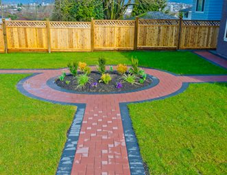 red paver walkway walkway and path landscaping network calimesa ca - Paver Walkway Design Ideas