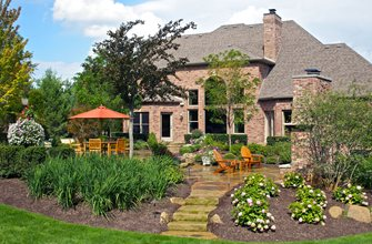 Backyard Retreat, Fireplace Backyard Landscaping Small's Landscaping Inc Valparaiso, IN
