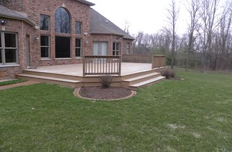 Wood Beck Before Small's Landscaping Inc Valparaiso, IN