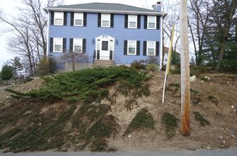 Front Yard Before Olde New England Granite Lynnfield, MA