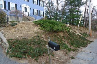 Slope Before Olde New England Granite Lynnfield, MA
