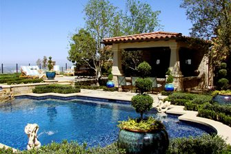 resort-style backyard