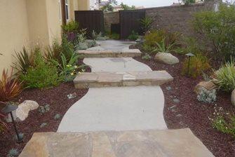 walkway, steps, concrete, stone