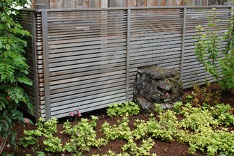 horizontal fence modern fence