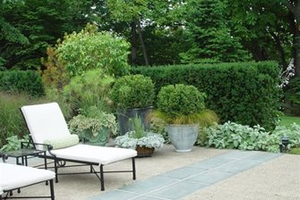 French, Patio, Lounges, Containers, Hedge