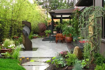 Japanese Patio Bamboo