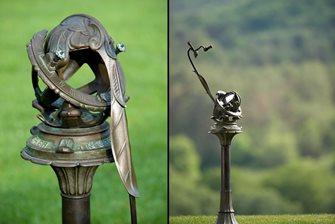 Bronze, Telescope, Garden, Porter, Pedestal