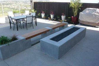 fire feature, concrete