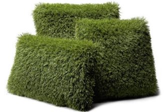 Synthetic turf pillows