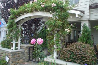 front yard arbor