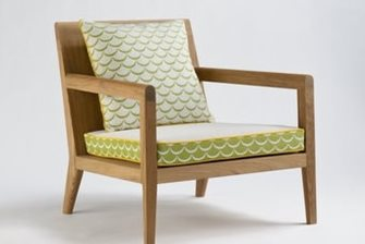 lounge chair with Swagger Spring cushions