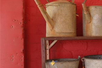 vintage metal watering cans