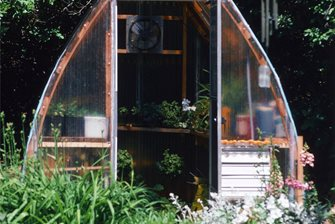 affordable cedar and fiberglass greenhouse