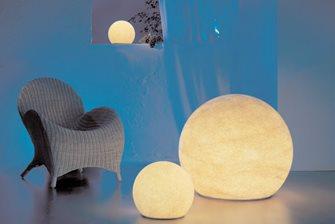 Stone globes