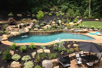 sloped backyard