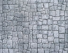 Natural Stone stamped concrete pattern