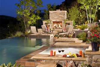 Wood Fueled Outdoor Fireplace