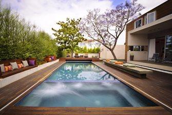 Wood Deck Swimming Pool