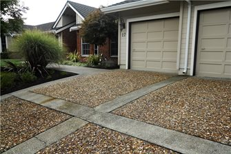 Concrete Driveway Huettl Landscape Architecture Walnut Creek, CA