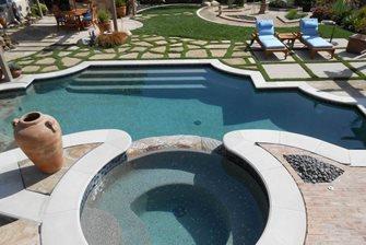 Elevated Backyard Pool Terrace