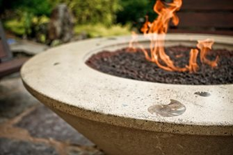 Concrete fire pit landscaping network for Concreteworks fire table