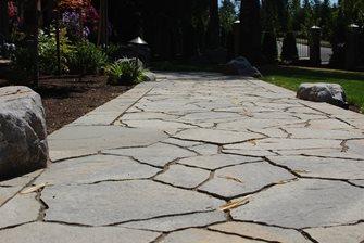 boulder walkway