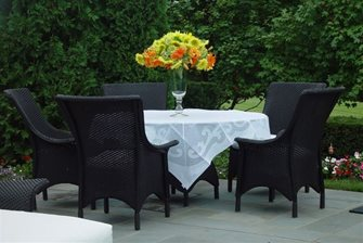 Dining, Patio, Table, Chairs, French Bistro
