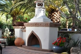 Moroccan Stucco Fireplace