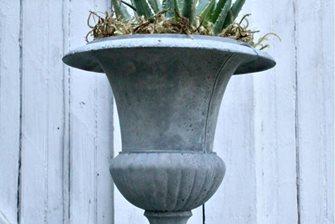 concrete urn planter