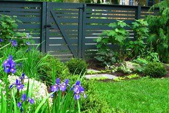 Horizontal Fence Boards, Black Fence