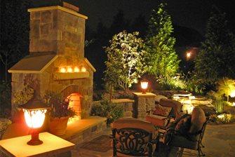 Fireplace Column Lights