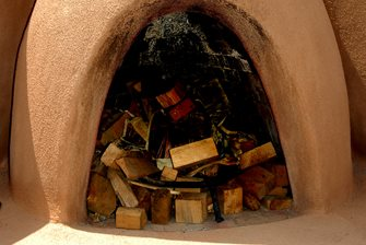 Stucco Kiva Fireplace