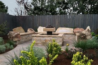 Fire And Water Feature Fire Pit The Garden Artist, LLC Boise, ID