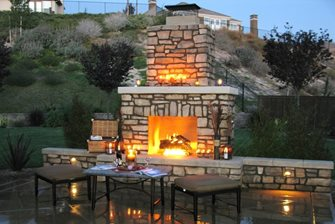 Outdoor Fireplace Chimney