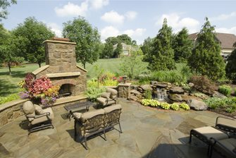 Stone Fireplace, Stone Patio