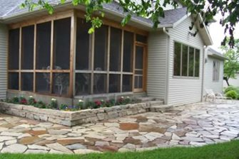Screened Porch, Screened Patio Walkway and Path Signature Landscapes Inc. Fargo, ND