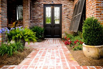 Brick Walkway, Straight Walkway, Soldier Course Walkway and Path Angelo's Lawn-Scape Of Louisiana Inc Baton Rouge, LA