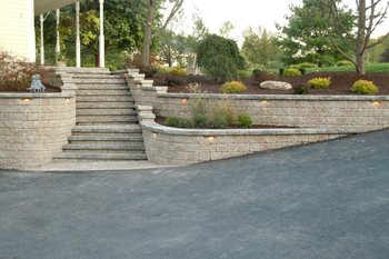 Front Entry Steps After Front Yard Landscaping Total Package Landscaping Services LLC Poughkeepsie, NY