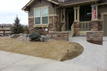 Front Yard After Front Yard Landscaping Renovations Landscaping, Inc Castle Rock, CO