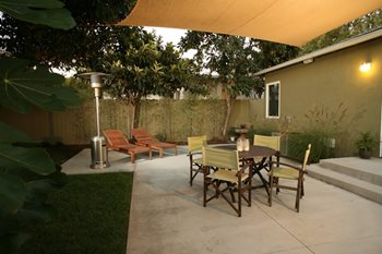 Small Backyard Patio Patio Lisa Cox Landscape Design Solvang, CA