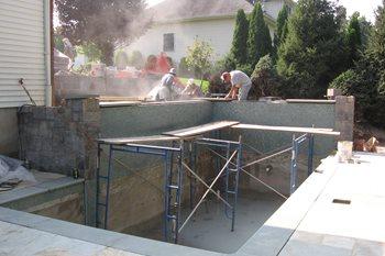 Building Swimming Pool Cipriano Landscape Design Mahwah, NJ