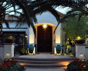Front Door Lighting, Front Door Landscaping Swimming Pool Exteriors by Chad Robert, Inc. Phoenix, AZ