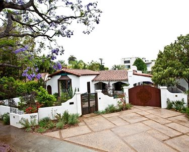 Driveway Landscaping Swimming Pool Laura Morton Design West Hollywood, CA