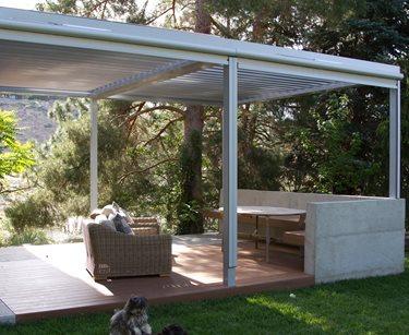 Modern Deck, Shaded Deck Deck Design Breckon Land Design Inc. Garden City, ID