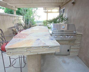 small backyard kitchen