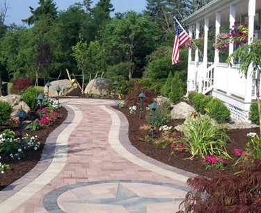 Paver Compass Design Pergola and Patio Cover Lehigh Lawn & Landscaping Poughkeepsie, NY